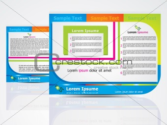abstract brochure design concept
