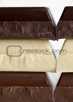 Black, Brown and White Chocolate