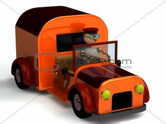 3d wood man as a driver