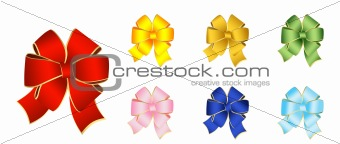Bows for the decoration of gifts