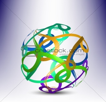 3d abstract element. Vector