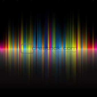abstract rainbow colors black background