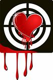 the vector target heart