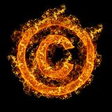 Fire sign Copyright