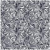 seamless floral monochrome pattern