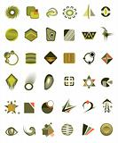 set of 36 icons and design-elements