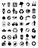 set of 42 environmental icons