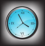 vector illustration of wall clock