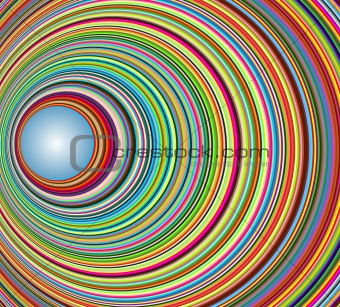 Abstract colorful tunnel with circles