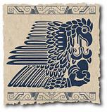 the vector mayan and inca tribal on old paper