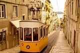 Tram in Lisbon. Portugal