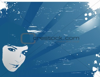 Woman, vector illustration.