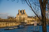 Louvre Museum (Pavillon de Flore) and Seine River, Paris.