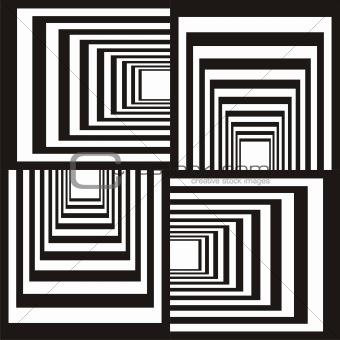 Abstract black & white design
