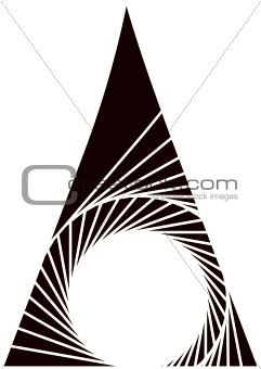 Abstract triangular design