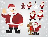 vector christmas santa set