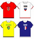 shirt with national flag