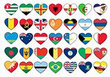 heart flags set