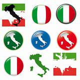 Italy vector set