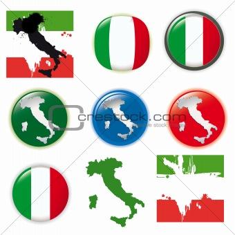 Italy vector set
