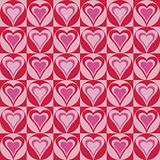 Hearts Background in Red and Pink