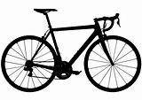 Road racing bike silhouette