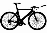 Triathlon time trial road bike silhouette