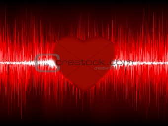 Abstract Heart cardiogram. EPS 8