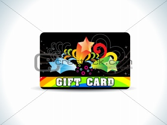 abstract black gift card