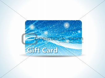 abstract blue gift card