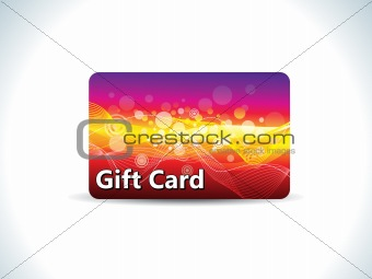 abstract colorful gift card