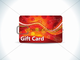 abstract red gift card