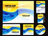 abstract shiny corporate id template