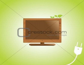 Wooden LCD TV