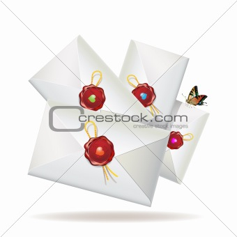 Group of envelopes