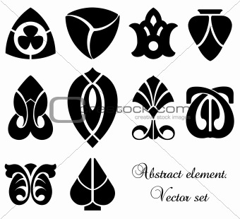 Abstract Design Elements. Vector set