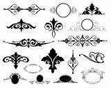 Decorative Floral Design Elements. Vector