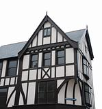 Black and white tudor house (isolated)
