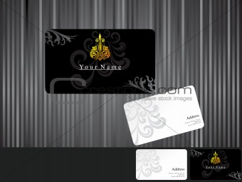 abstract black business cards