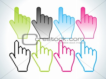 abstract colorful hand icon
