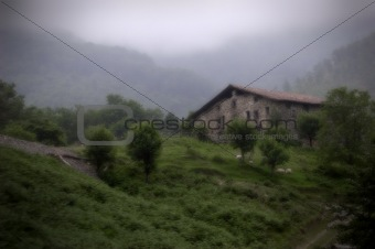 Caserio in Leizaran Valley. Guipuzcoa, Spain