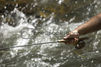 Angling on the river
