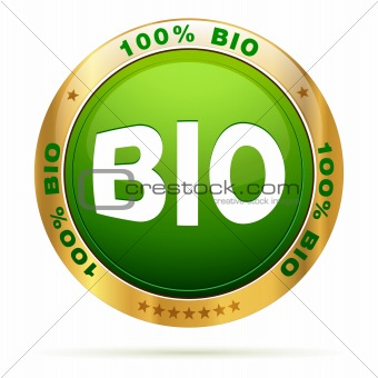 100 percent bio badge