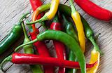 Red, Yellow and Green Chili Pepper