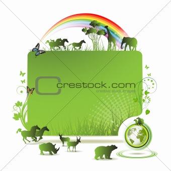 Green earth banner