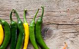 Yellow and Green Chili Pepper