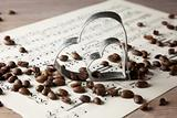 Coffee beans and Heart