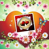 Photo with hearts