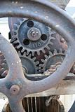 Antique machine gears