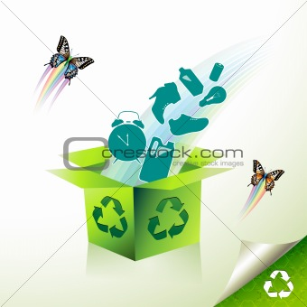 Green recycle box